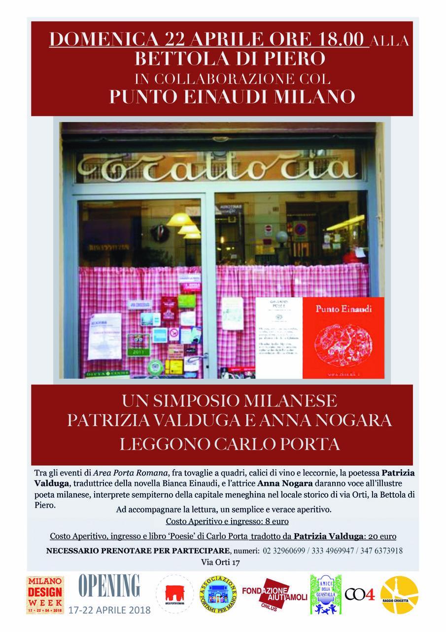 Un simposio Milanese. Patrizia Valduga e Anna Nogara leggono Carlo Porta